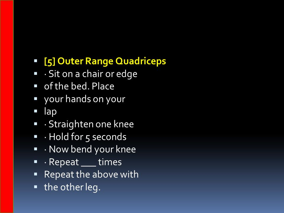 [5] Outer Range Quadriceps